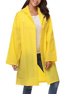 ZHENWEI Womens' Rain Coats Waterproof Portable EVA Plus Long