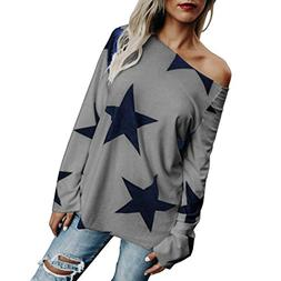 Vovotrade Adorable Women Girl Strapless Star Sweatshirt Long