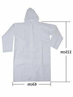 Mudder Adult Portable Raincoat Rain Poncho with Hood and Sle