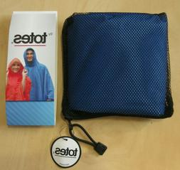 Adult Waterproof Poncho by Totes - NAVY BLUE, One size-fits-