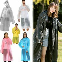 Adults Raincoat Outdoor Transparent Waterproof Rainwear EVA