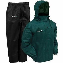 all sport rain suit dark green jacket
