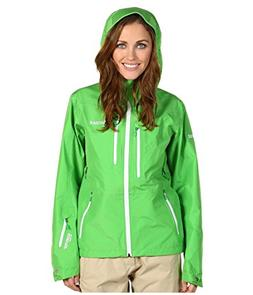 Women Marmot Alpinist Green Gore-Tex Waterproof Hooded Rain