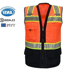 Safety Depot Ansi Class 2 Industrial Black Bottom Mesh Safet