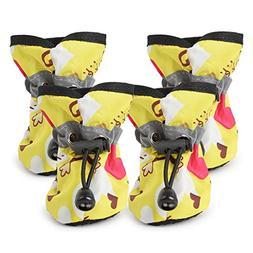 YJYdada Comfortable Anti-slip Shoes Puppy Dog Cat Rain Boots