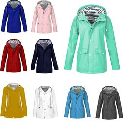 617ba1b38c7ac Winter Women Solid Rain Jacket Outdoor Plus Waterproof Hoode