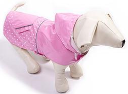 BINGPET BA1888 Fashion Reflective Waterproof Dog Raincoat Cu