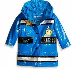 Wippette Baby Boys' Policeman Rainwear, Royal, 18 Months