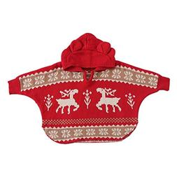 FEITONG Baby Girls Boys Knitted Hooded Christmas Deer Outwea
