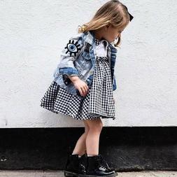Baby Girls Denim Coats Boys Vintage Jean Jackets Kids Eyes E