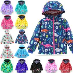 Baby Girls Kids Hoodie Raincoat Coats Jacket Rain Wear Windp