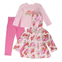 Little Me Baby Girls Pink Floral Rain Jacket with Long Sleev