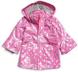 Wippette Baby Girls Shiny Raindrop Infant Rain Jacket, Pink