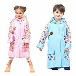 Baby Kid Girl Boy Cartoon Backpack Raincoat Outdoor Waterpro