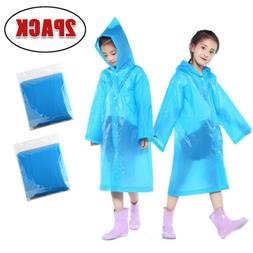 Kids children Rainwear Waterproof Hooded Rain Coat Outwear P