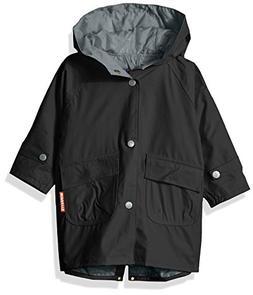 Wippette Baby Solid Color Infant Boys Raincoat, Black, 12m
