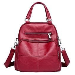 YJYDADA Bag,Vintage Girl Leather School Bag Backpack Satchel