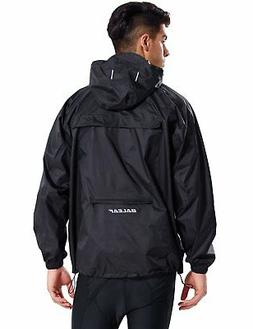 Baleaf Unisex Rain Jacket Packable Outdoor Waterproof Hooded
