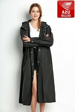 Beautiful Black EVA Womens Raincoat Waterproof Outdoor Jacke