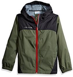 Columbia Big Boy's Glennaker Rain Jacket, Cypress, Shark, L