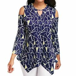 Gillberry Big Promotion, Women Cold Shoulder Long Sleeve Asy