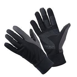OZERO Bike Gloves for Men, Winter Warm Touch Glove for Smart