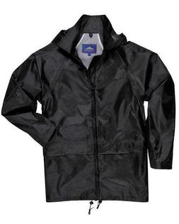 Black Rain Coat with Attached Hood **FREE SHIPPING**