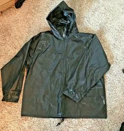 Black Unisex Portwest Rain Coat