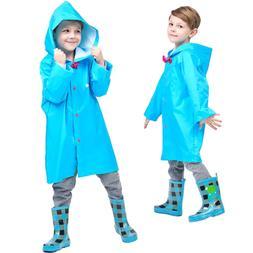 Blue 2-10t Kids Rain Jacket Solid Rain Coats for Girls Boy R