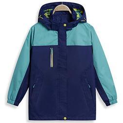 KID1234 Boy Rain Jacket Raincoat Lightweight Waterproof Quic