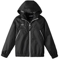 Wantdo Boy's Lightweight Hooded Rain Jacket Waterproof Outer