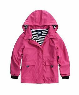 M2C Boys & Girls Hooded Waterproof Rain Jacket Cotton Lined