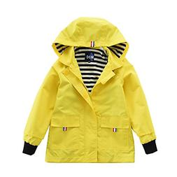 M2C Boys & Girls Raincoat Hooded Jacket Outdoor Light Windbr
