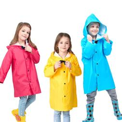 BOYS GIRLS Kids Raincoat Bowknot Lightweight Breathable Rain