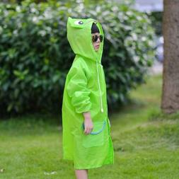 Boys Girls Raincoat Funny Cartoon Baby Kids Rainwear Cute Wa