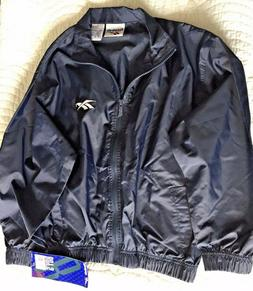 Reebok  Boys Jacket M 10/12 Windbreaker Rain Coat Navy NWT