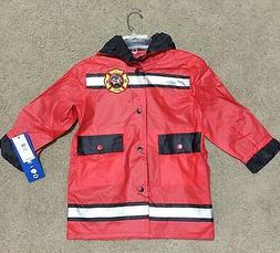 WIPPETTE Boys Jr Firefighter Fireman Raincoat Jacket  Hooded