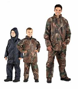 Boys Mens Camouflage Waterproof Jacket Trouser Rain Coat Sui
