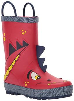 Western Chief Boys Waterproof Printed Rain Boot with Easy Pu