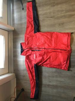 Brand New - Authentic HILTI Red Rain Coat Jackets Hood MENS