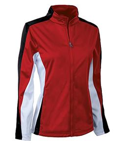 Charles River Apparel Women's Brushed Sports Jacket, Red/Bla