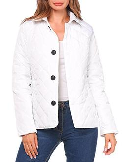 UNibelle Women's Button Down Diamond-Quilted Barn Pocket Jac