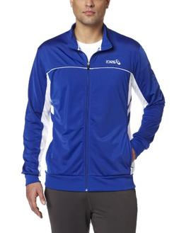 ASICS Men's Cabrillo Jacket,Royal/White,Medium