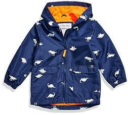 Carter's Boys Navy Changing Dinosaur Rainslicker Jacket Size