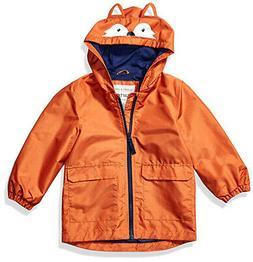 Carter's Boys Orange Fox Rainslicker Jacket Size 2T 3T 4T 4