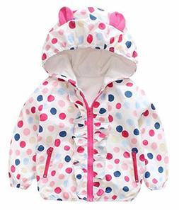 Baby Girls Cartoon Rabbit Outerwear Windbreaker Waterproof R