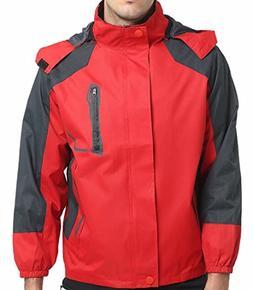 Ptyhk RG Men's Casual Hooded Sportswear Windbreaker Windproo