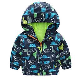 lymanchi Kids Baby Boy Casual Windbreaker Outerwear Dinosaur