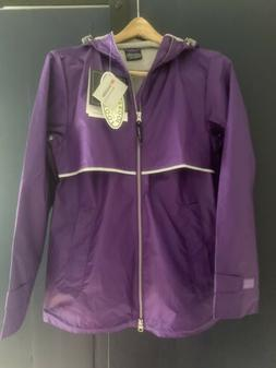 Charles River New Englander Rain Jacket Violet, Women's Size