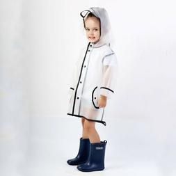 Children EVA Rain Coat Boys Girls Windproof Poncho Rainwear